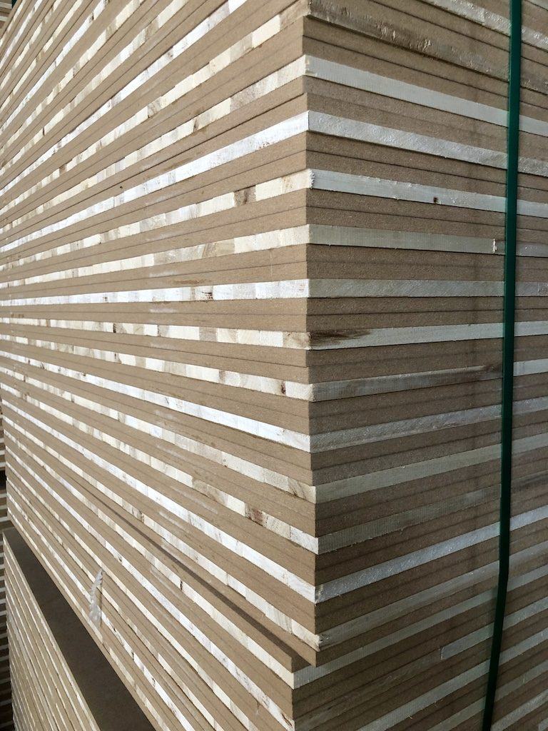 HDF and blockboard sandwich panel