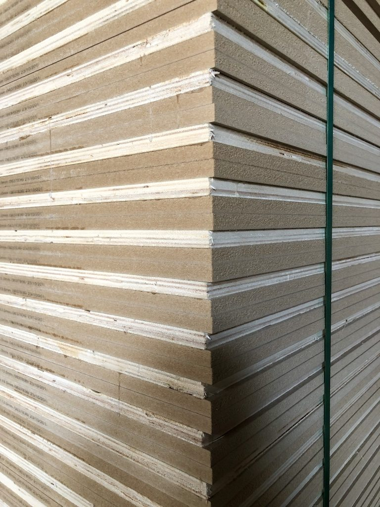 HDF and plywood sandwich panel