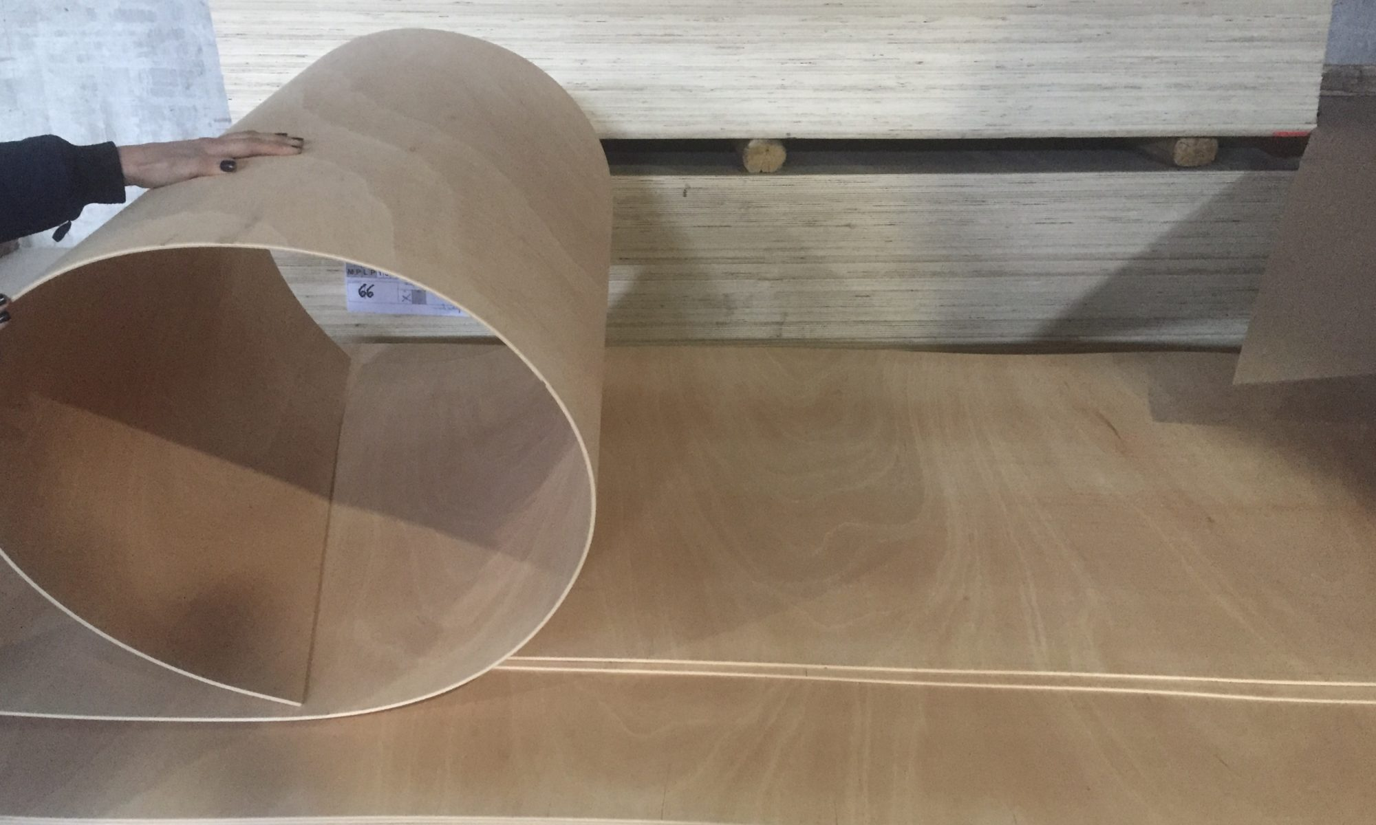 Multiflex bending plywood